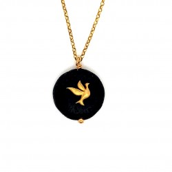 Lava chain necklace with Dove