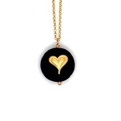 Lava chain necklace with Heart