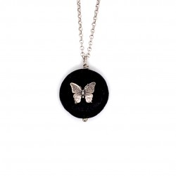 Lava chain necklace with Butterfly