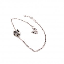 Bracelet with silver chain and motif Lyra