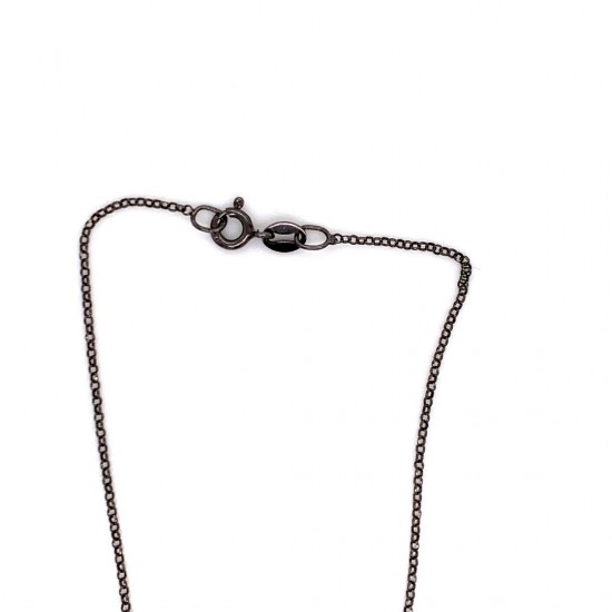 Chain necklace adorned with a pearl and motif Dove