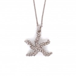 Coral inspired necklace, starfish motif from sterling silver rhodium plated