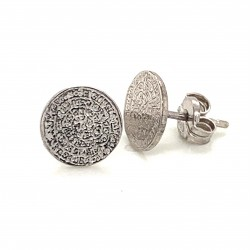 Earrings Phaistos disc, small and discreet from sterling silver 925, mini