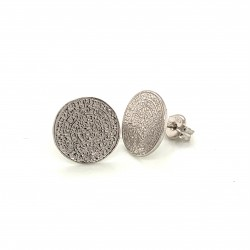Earrings Phaistos disc, small and discreet from sterling silver 925, no1