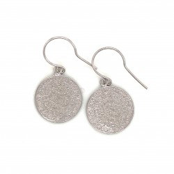 Earrings Phaistos disc with hook small from sterling silver 925, no2