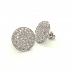 Earrings Phaistos disc, small and discreet from sterling silver 925, no2