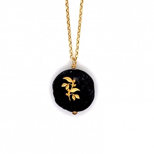 Lava chain necklace with Olive branch