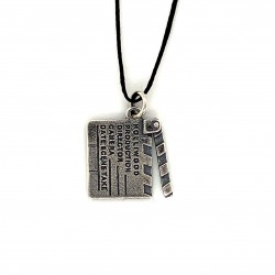 Movie clutch pendant from oxidized sterling silver, unisex, hobby collection