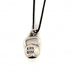 Kettle bell pendant from oxidized sterling silver, unisex, hobby collection