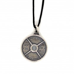 Spinlock dumbbell pendant from oxidized sterling silver, unisex, hobby collection