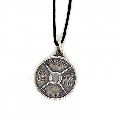Spinlock dumbbell pendant from oxidized sterling ...
