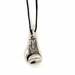 Box gloves pendant from oxidized sterling silver, unisex, hobby collection