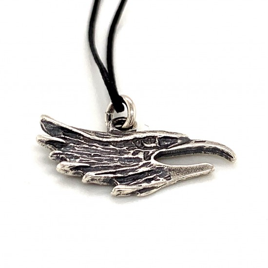 Eagle pendant from oxidized sterling silver, unisex, hobby collection