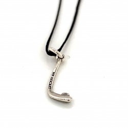 Icehockey stick pendant from oxidized sterling silver, unisex, hobby collection