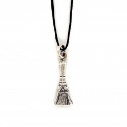 Brush pendant from oxidized sterling silver, unisex, hobby collection