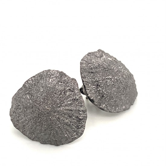 Limpet earrings with pin from 925 sterling silver