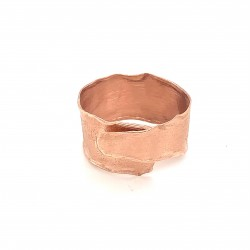 Ring, wrap, rose gold, melted