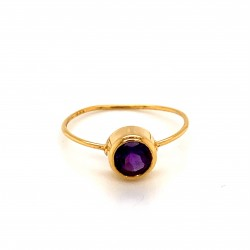 k14 gold ring with Amethyst