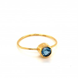 k14 gold ring with Blue Topaz