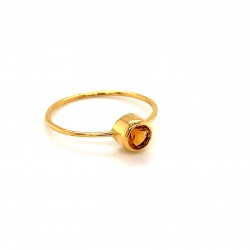 k14 gold ring with Citrine
