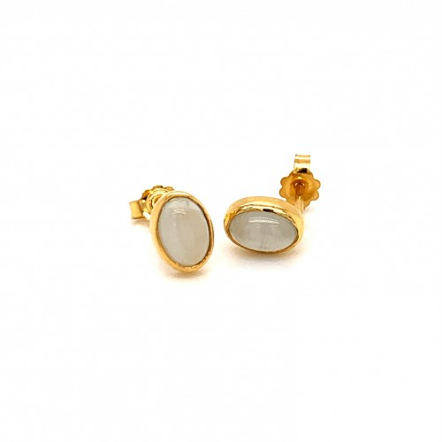 k18 gold earrings with Aquamarine