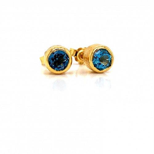 k14 gold earrings with Blue Topaz