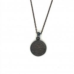 Necklace Phaistos disc, small and discreet from sterling silver 925, no1