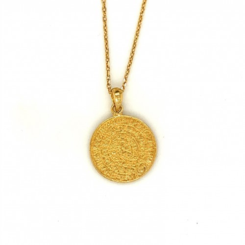 Necklace Phaistos disc, small from sterling silver...