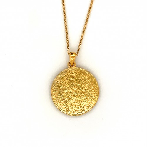 Necklace Phaistos disc, from sterling silver 925, ...