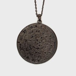 Necklace Phaistos disc, large from sterling silver 925, no5