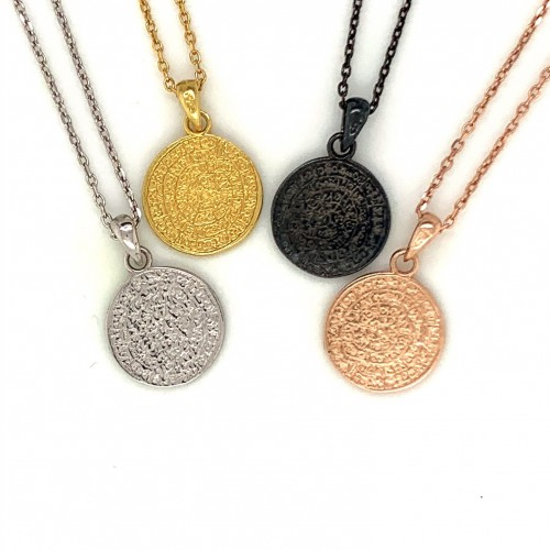 Necklace Phaistos disc, small and discreet from st...