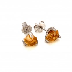 Nairobi earrings with rough Citrine stone