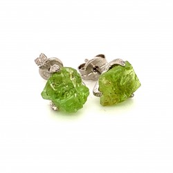 Nairobi earrings with rough Peridot stone