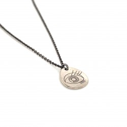 Chain necklace with silver motif protection eye big