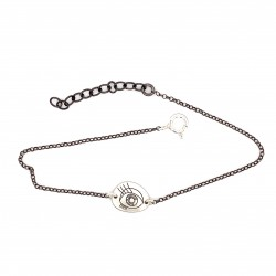 Bracelet with a chain and a unique motif protection eye big