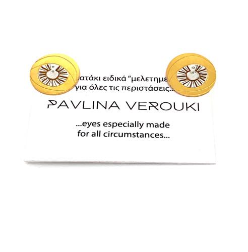 Pin earrings protection eye
