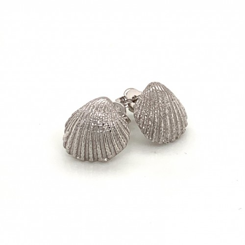 Shell earrings with pin from 925 sterling silver r...