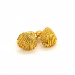 Shell earrings with pin from 925 sterling silver gold plated