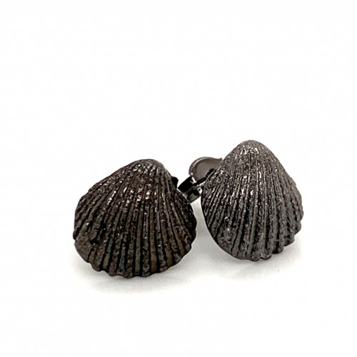 Shell earrings with pin from 925 sterling silver b...