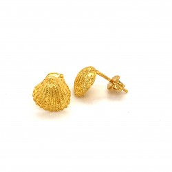 Shell mini pin earrings from gold plated sterling silver