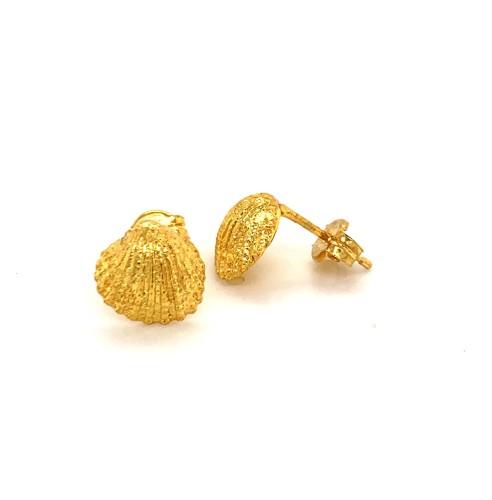 Shell mini pin earrings from 925 sterling silver