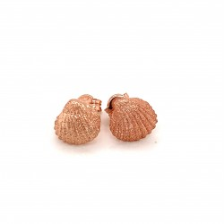 Shell mini pin earrings from rose gold plated sterling silver