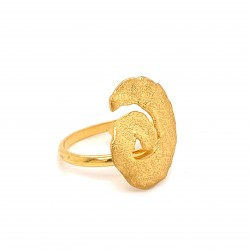 Ring melted spiral, gold plated silver, small