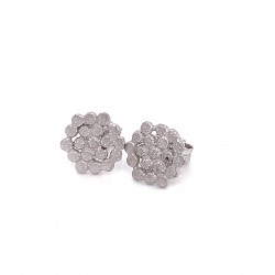 Earrings mini Stefania with pin, from sterling silver and diamond hit