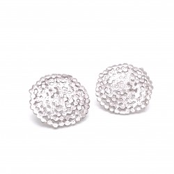 Earrings Stefania with pin, from sterling silver and diamond hit