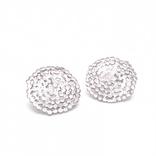 Earrings Stefania with pin, from sterling silver a...