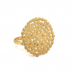 Ring Stefania with adjustable calf, from sterling silver and diamond hit