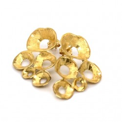 Earrings made from sterling silver with shell organic shape , gold plated