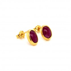 k18 gold earrings with Rubies