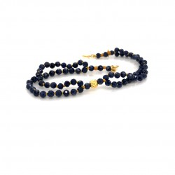 Sapphire knotted bracelet with 18K gold elements